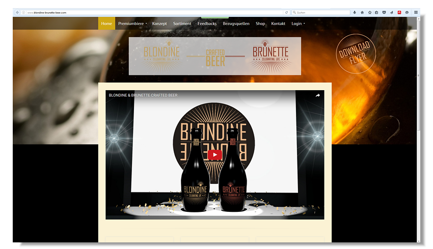 Webseite Blondine Brunette Beer